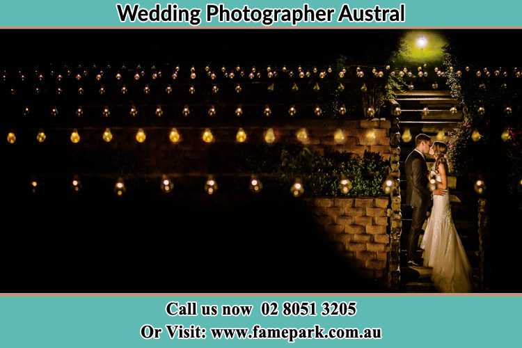 Photo of the Groom and the Bride kissing Austral NSW 2179