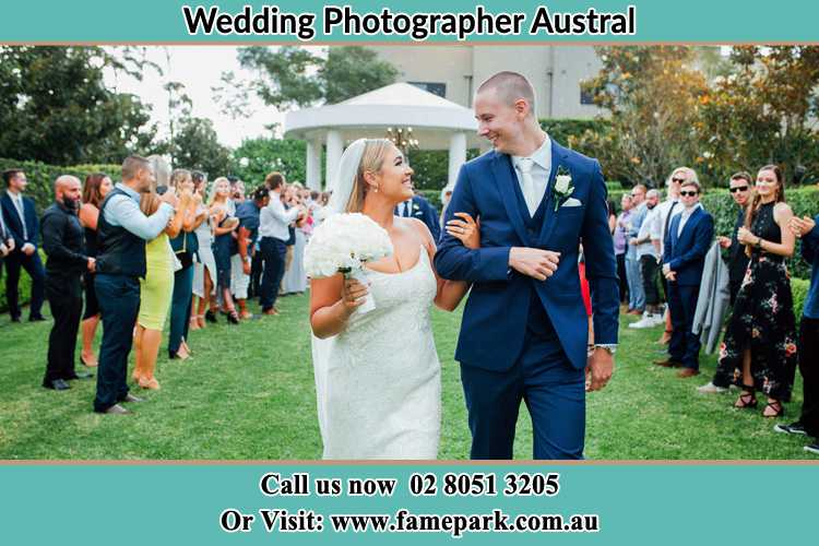 Photo of the Bride and the Groom looking each other Austral NSW 2179