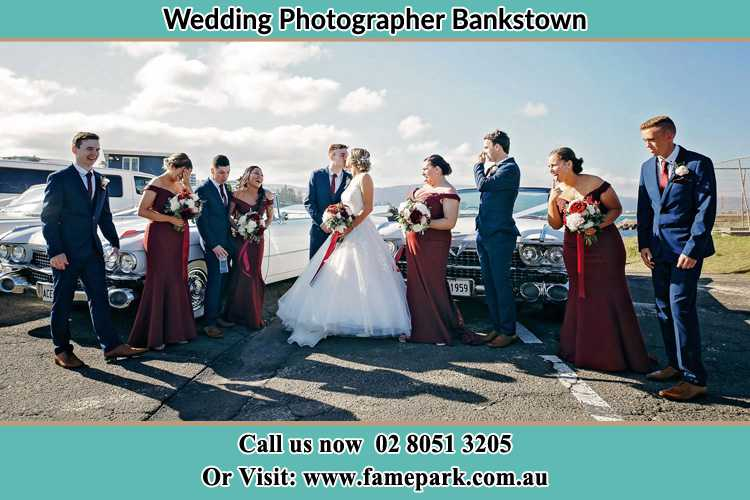 Photo of the Groom and the Bride with the entourage Bankstown NSW 2200