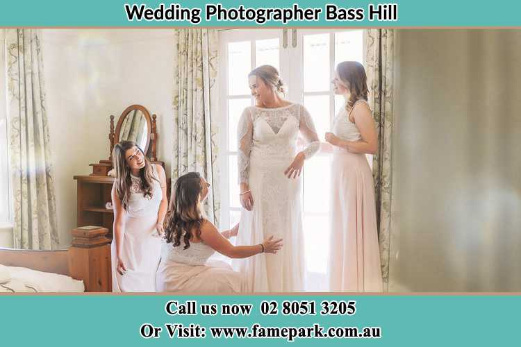 Photo of the Bride and the secondary sponsor preparing Bass Hill NSW 2197
