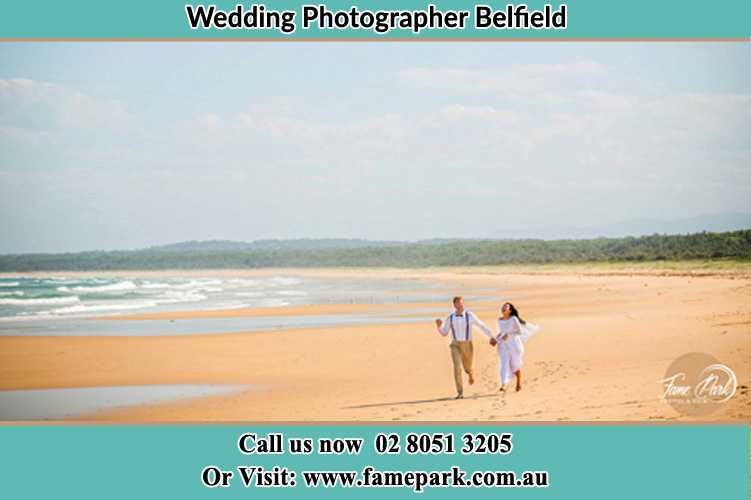 Photo of the Groom and the Bride at the sea shore Belfield NSW 2191
