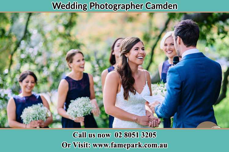 Photo of the Groom testifying love to the Bride Camden NSW 2570