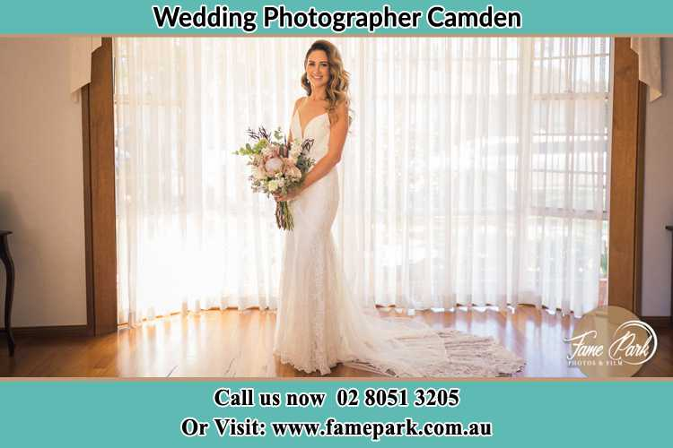 Photo of the Bride holding flower bouquet Camden NSW 2570