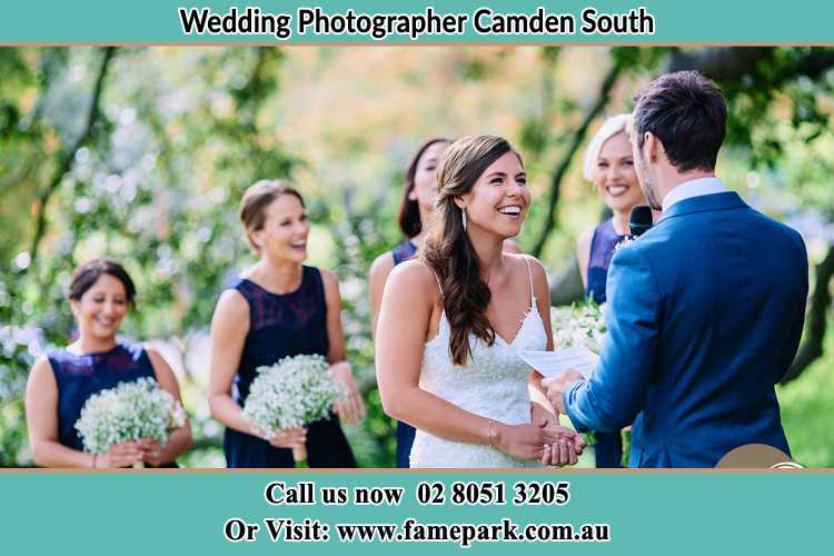 Photo of the Groom testifying love to the Bride Camden South NSW 2570