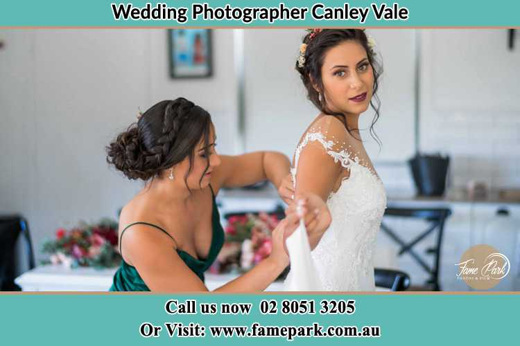 Photo of the Bride and the bridesmaid getting ready Canley Vale NSW 2166