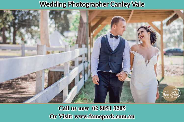 Photo of the Groom and the Bride walking Canley Vale NSW 2166