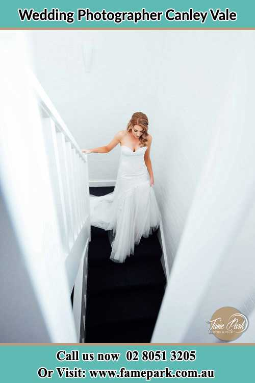 Photo of the Bride going down the stair Canley Vale NSW 2166