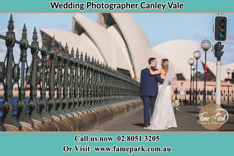 The Groom and the Bride walking towards the Sydney Grand Opera House Canley Vale NSW 2166