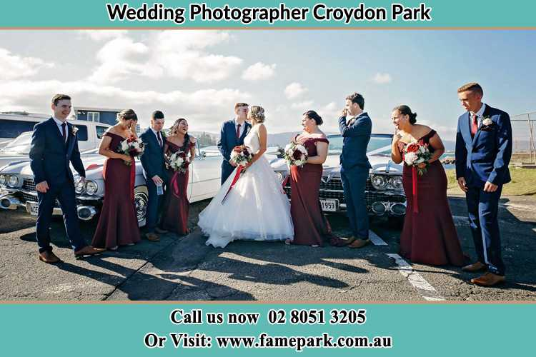 Photo of the Groom and the Bride with the entourage Croydon Park NSW 2133
