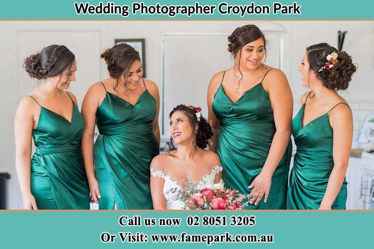 Photo of the Bride and the bridesmaids Croydon Park NSW 2133
