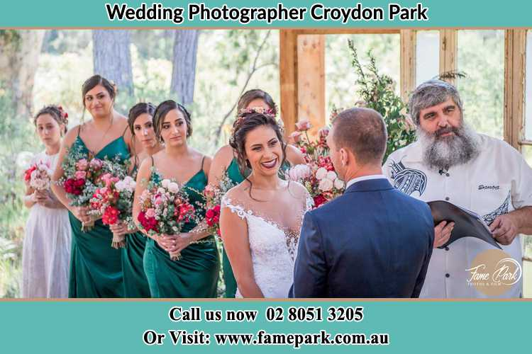 Photo of the Bride and the Groom at the matrimony Croydon Park NSW 2133