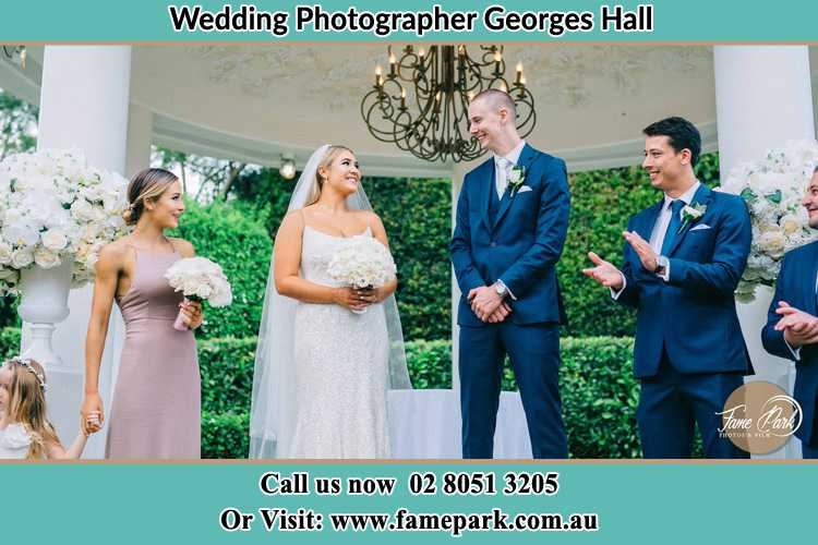 Photo of the Groom and the Bride with the entourage Georges Hall NSW 2198