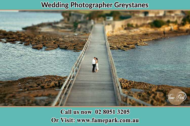 Photo of the Groom and the Bride at the bridge Greystanes NSW 2145