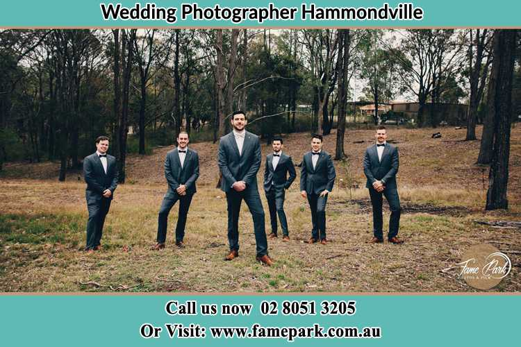 Photo of the Groom and the groomsmen Hammondville NSW 2170
