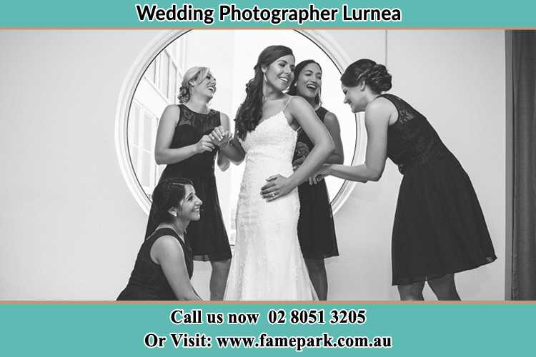 Photo of the Bride and the bridesmaids near the window Lurnea NSW 2170