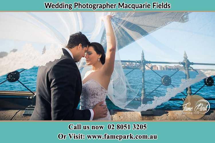 Photo of the Groom and the Bride kissing Macquarie Fields NSW 2564