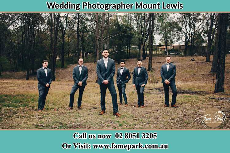 Photo of the Groom and the groomsmen Mount Lewis NSW 2190