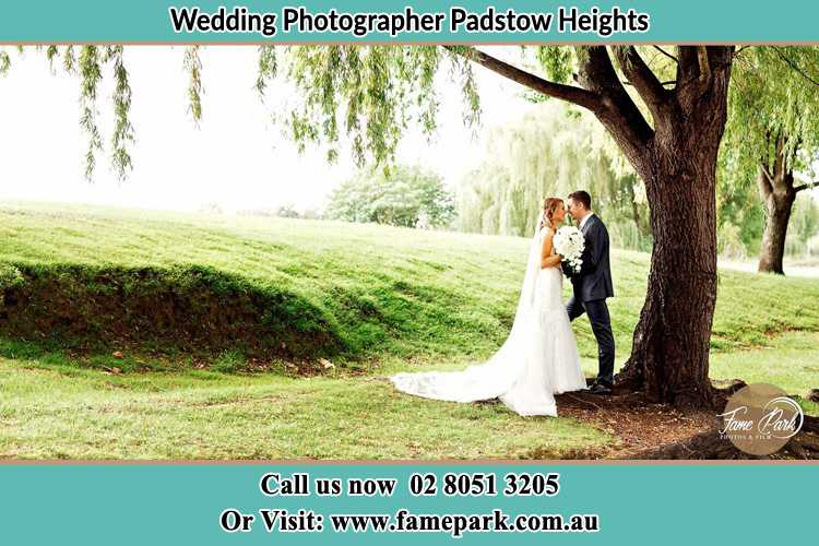 Photo of the Bride and the Groom kissing under the tree Padstow Heights NSW 2211