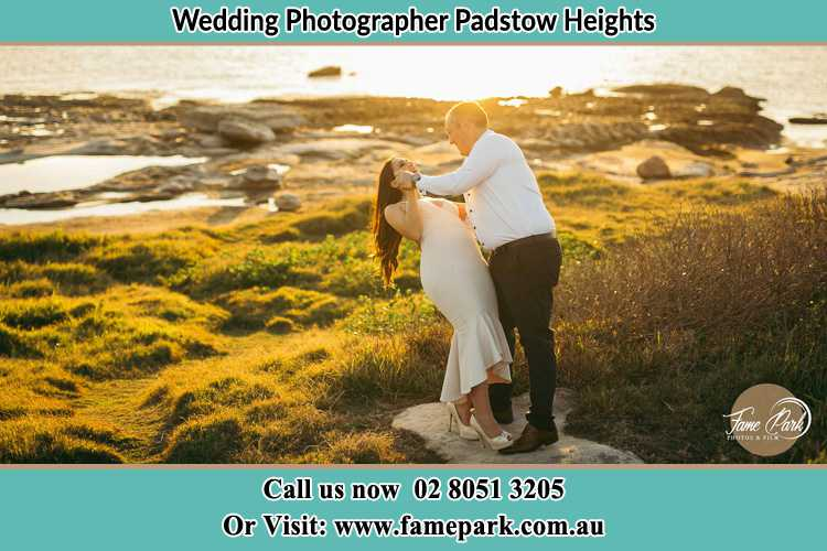Photo of the Bride and the Groom dancing near the lake Padstow Heights NSW 2211