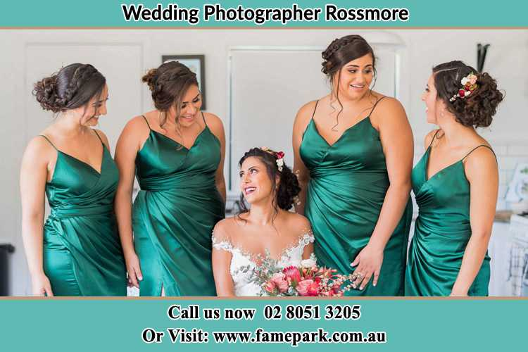 Photo of the Bride and the bridesmaids Rossmore NSW 2557