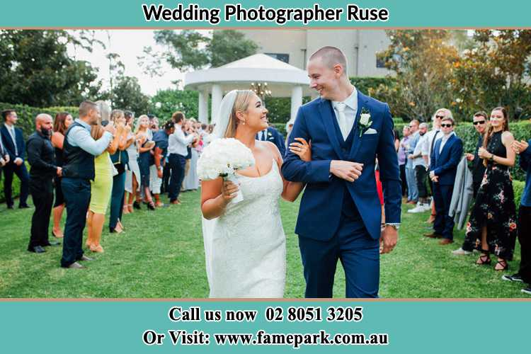 Photo of the Groom and the Bride looking each other Ruse NSW 2560