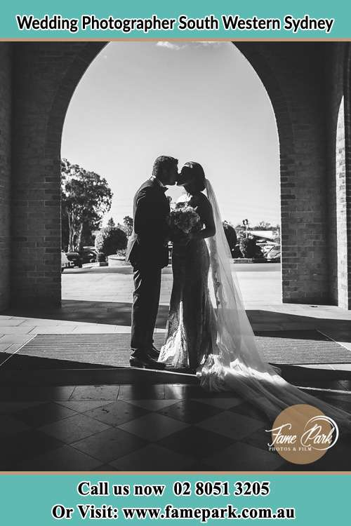The Groom and the Bride Kissing South Western Sydney