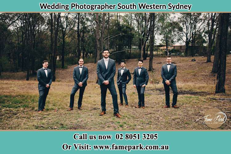 The Groom with his groomsmen South Western Sydney