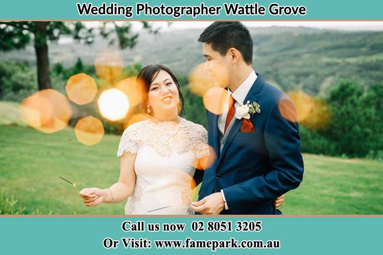 Photo of the Bride and the Groom at the yard Wattle Grove NSW 2713